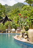 Beautiful tropical swimming pool.Thailand. Stock Photos