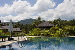 Beautiful tropical swimming pool.Thailand. Stock Images