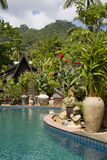 Beautiful tropical swimming pool.Thailand. Royalty Free Stock Photo