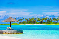 Beautiful tropical view of perfect ideal island in Stock Image