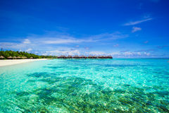 Beautiful tropical view of perfect ideal island in Stock Photography