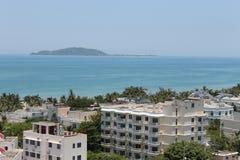 Beautiful tropical view. Sanya, Hainan island, China Royalty Free Stock Photo
