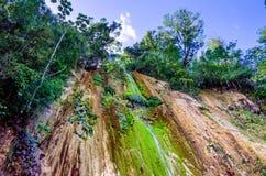 Beautiful tropical waterfall El Limon. Beautiful view of tropical waterfall Al Limon in Samana Bay, Dominican REpublic Stock Photo