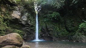 Beautiful tropical waterfall. Waterfall in the jungle.tropical rain forest with waterfall.Waterfall on the island of Camiguin (Philippines stock video footage