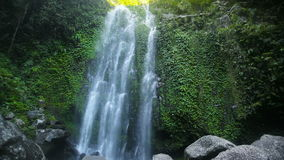 Beautiful tropical waterfall. Waterfall in the jungle.tropical rain forest with waterfall.Waterfall on the island of Camiguin (Philippines stock footage