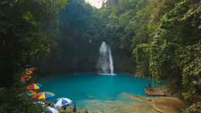 Beautiful tropical waterfall. Kawasan Falls. Philippines Cebu island. stock video
