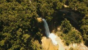 Beautiful tropical waterfall. Philippines Bohol island. stock video footage