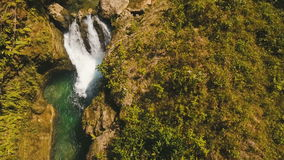 Beautiful tropical waterfall. Philippines Cebu island. stock footage