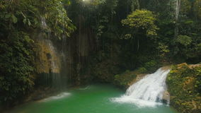 Beautiful tropical waterfall. Philippines Cebu island. stock video
