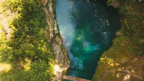 Beautiful tropical waterfall. Philippines Cebu island. stock video footage