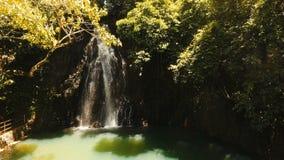 Beautiful tropical waterfall. Philippines Siargao island. stock video