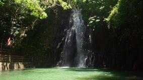 Beautiful tropical waterfall. Philippines Siargao island. stock video footage