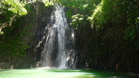 Beautiful tropical waterfall. Philippines Siargao island. stock video footage