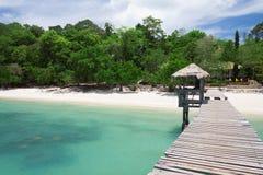 Beautiful tropical white sand beach. Stock Image