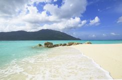 Beautiful tropical white sand beach Stock Image