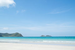 Beautiful tropical white sand beach Stock Photo