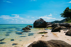 Beautiful tropical wild beach in island Phu Quoc Royalty Free Stock Photo