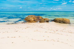 Beautiful tropical wild beach in island Phu Quoc. White sand Stock Photography