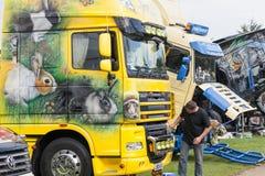 Beautiful truck artwork of rabbits at Truckfest 2017 Stock Photos