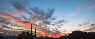 Beautiful Tucson, Arizona Sunset Royalty Free Stock Image