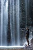 Beautiful Tukad Cepung Waterfall in Bali Stock Photo