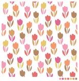 Beautiful tulip flowers seamless background. Pastel tulip flowers seamless  pattern Royalty Free Stock Photos