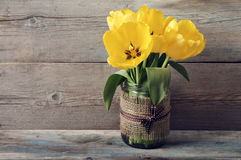Beautiful tulips bouquet Royalty Free Stock Images