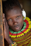 Beautiful Turkana woman Loyangalani, Kenya. Royalty Free Stock Photography