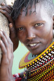 Beautiful Turkana woman in Loyangalani, Kenya. Stock Images