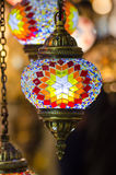 Beautiful turkish mosaic lamp on Istanbul bazaar Royalty Free Stock Photos