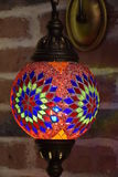 Beautiful turkish mosaic lamp on Istanbul bazaar Stock Images