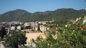 Beautiful Turkish tourist town landscape, Marmaris stock video footage