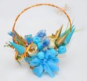 Beautiful Turquoise Basket Stock Photography