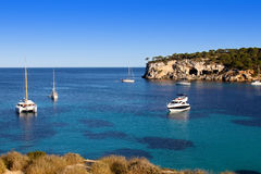 Beautiful turquoise bays in Mallorca Royalty Free Stock Photo