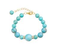 Beautiful turquoise bead bracelet Royalty Free Stock Photography