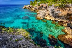 Jamaica Negril ocean paradise royalty free stock photo