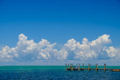The beautiful turquoise and blue waters of the Gulf Coast side o Royalty Free Stock Photography
