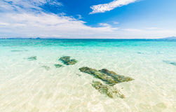 Beautiful turquoise crystal clear sea water Stock Image