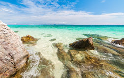 Beautiful turquoise crystal clear sea water Stock Photo