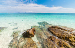 Beautiful turquoise crystal clear sea water Stock Images