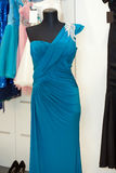 Beautiful turquoise gown Royalty Free Stock Photo