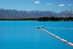 A beautiful turquoise lake Royalty Free Stock Photo