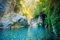 Beautiful Turquoise Lake Stock Photography
