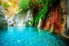 Beautiful Turquoise Lake Stock Photos