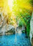 Beautiful Turquoise Lake Royalty Free Stock Photos