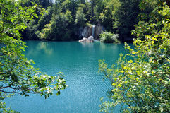 Beautiful turquoise lake in Plitvice, Croatia Stock Photos