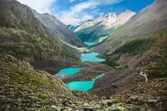 Beautiful turquoise lakes Royalty Free Stock Images