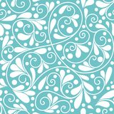 Beautiful turquoise leaf seamless pattern vector illustration