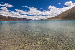 Beautiful turquoise Pangong Tso lake-Ladakh, India Stock Photography