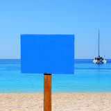 Beautiful turquoise sea with catamaran Stock Photography